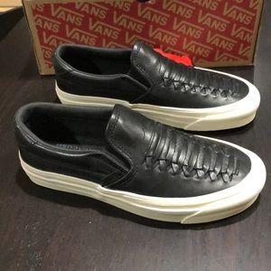 Vans Classic Slip-On DX Weave Leather Black